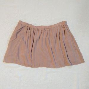 Brandy Melville Nude Mini Skirt One Size